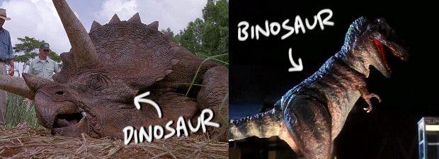 Movie dinosaur vs movie binosaur